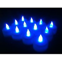 Tealights Candle (Blue, Pack Of 12)