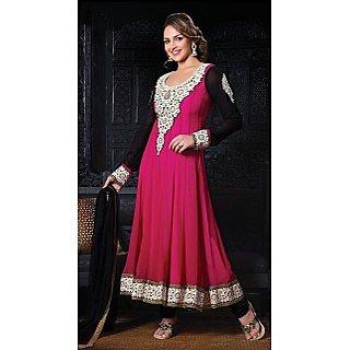 Esha Deol In Dark Pink Georgette Salwar Kameez