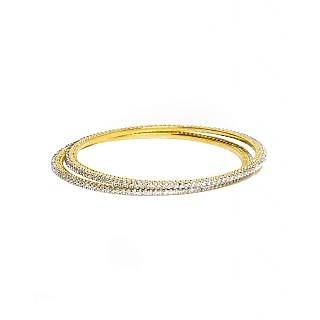 Joyas American Diamond Studded Elegant Bangle Set For Women_6B04155_2.4