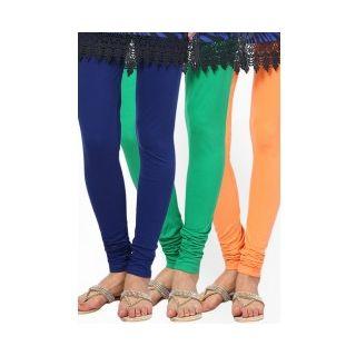 Style Plus Soft Viscose Lycra Legging Combo Of 3