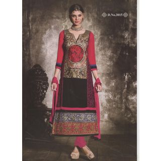 Aarti Designer Suit Party wear  and Wedding wear Embroidery suit 3015