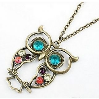Bronze Vintage Hollow Owl Necklace