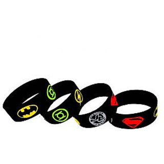 Justice League Engraved Wrist Bands
