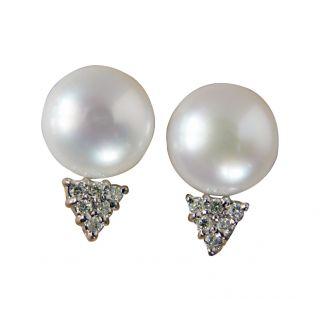 Pearl & Diamond Earring Studs