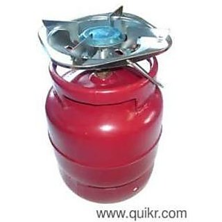 NEW SMALL MINI PORTABLE 4KG GAS CYLINDER WITH BURNER ...