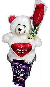 Sweet Valentine Hamper with Chocolates