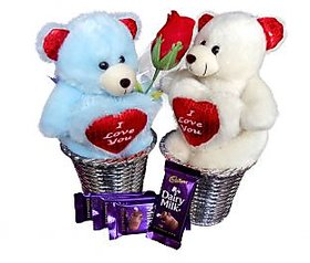 Adorable Close Couple with Chocolates