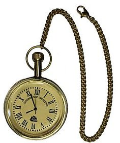 Somyaleger Antique Ship Brass Pocket Watch