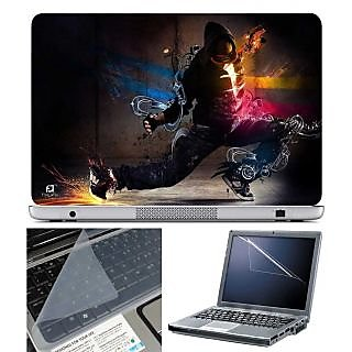 FineArts Laptop Skin Man Dancing With Screen Guard and Key Protector - Size 15.6 inch