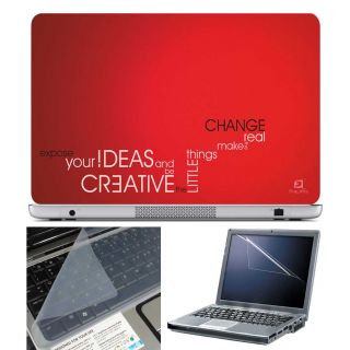 FineArts Laptop Skin Creative Ideas With Screen Guard and Key Protector - Size 15.6 inch