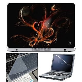 FineArts Laptop Skin Heart Effect With Screen Guard and Key Protector - Size 15.6 inch
