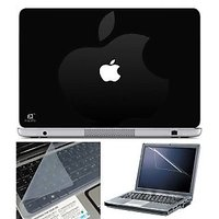 FineArts Laptop Skin Apple White With Screen Guard And Key Protector - Size 15.6 Inch
