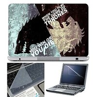 FineArts Laptop Skin You Win With Screen Guard And Key