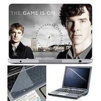 FineArts Laptop Skin The Game Is On With Screen Guard A