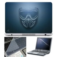 FineArts Laptop Skin Mask On Blue With Screen Guard And