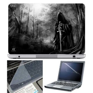 FineArts Laptop Skin Ghost with Sward With Screen Guard and Key Protector - Size 15.6 inch