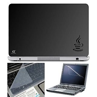 FineArts Laptop Skin Java With Screen Guard and Key Protector - Size 15.6 inch