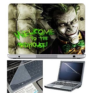 FineArts Laptop Skin Welcome to the Mad House With Screen Guard and Key Protector - Size 15.6 inch