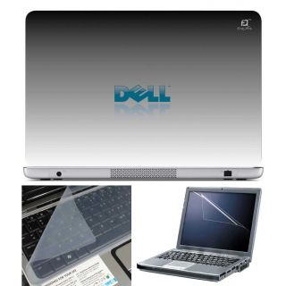 FineArts Laptop Skin Dell Grey With Screen Guard and Key Protector - Size 15.6 inch