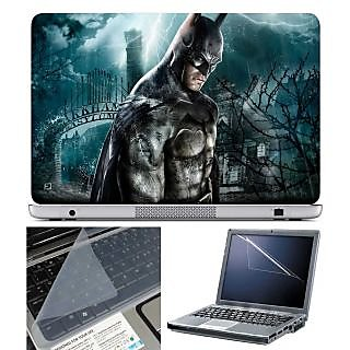 FineArts Laptop Skin Arkham Asylum With Screen Guard and Key Protector - Size 15.6 inch