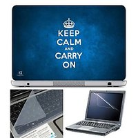 FineArts Laptop Skin - Keep Calm And Carry On With Scre