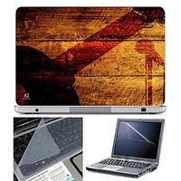 FineArts Laptop Skin - Guitar Mic On Wooden With Screen