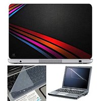 FineArts Laptop Skin - Stripes On Leather With Screen G
