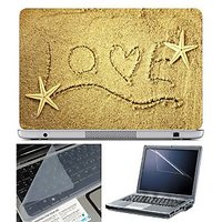 FineArts Laptop Skin Live On Sand With Screen Guard And