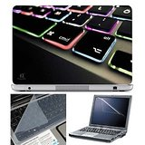 FineArts Laptop Skin Keyboard Color Led With Screen Guard and Key Protector   Size 15.6 inch Laptop Skins