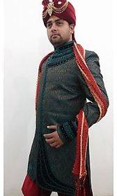 Khaan Saab Wedding Sherwanis 001 Green size-40