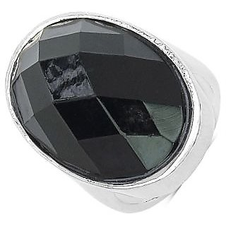 Bijou Adjustable Black Stone Gypsy Ring