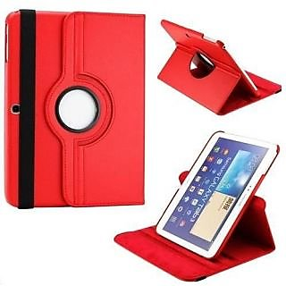 PU Leather Full 360 Degree Rotating Flip Book Case Cover For Samsung Galaxy Note Sm - N8000 10.1 Inch (Red)