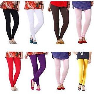 Ladies Beautiful Cotton Lycra Legging Set Of 8
