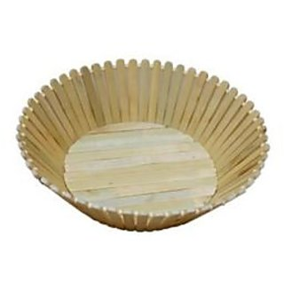 Onlineshoppee Wooden Fruit and Flower Basket Without Handle