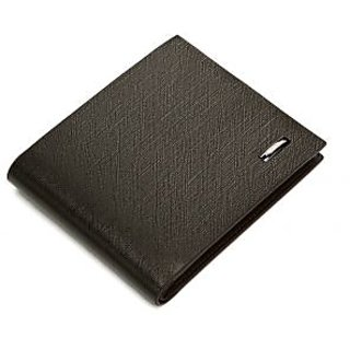 Black Leather Wallet (Synthetic leather/Rexine)