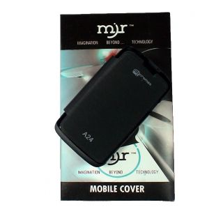 outlet store 8c79b 7acaf MJR Flip Cover For Micromax A24 Black + HD Earphone