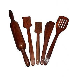 Onlineshoppee Wooden Kitchen Tool Set