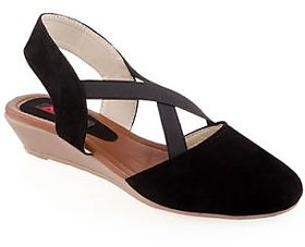 Kielz Ladies Synthetic Wedges Black And Brown