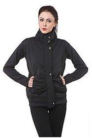 Purys Black Wool Blend Cape Jacket For Women (8 Color Options)