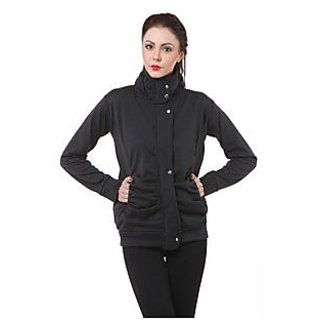 Purys Black Wool Blend Cape Jacket For Women (8 Color Options)