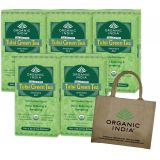Organic India TULSI GREEN TEA Plus Jute Bag Free Stress Relieving & Energizing
