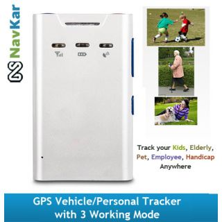 Multi-functional GT300 GPS Vehicle/Personal Tracker with 3 Working Mode