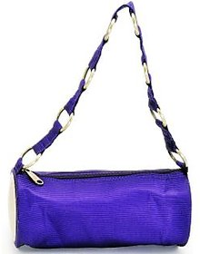 Cylindrical Hand Bag - Shoulder Bag - Round Metal Bag -