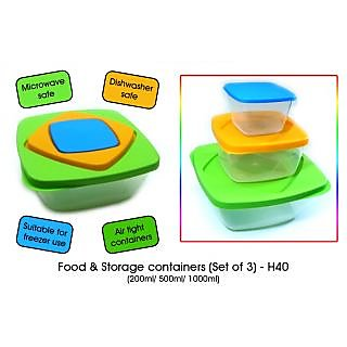 Food & Storage Containers (Set Of 3) & 2 Pcs Visiting Card Holder Free