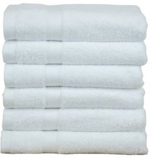 valtellina plain white full size  gents 6 bath towel (BTL-006)