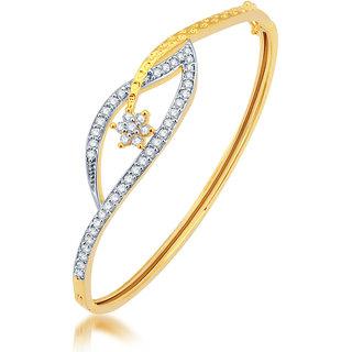 Sukkhi Graceful Gold and Rhodium Plated CZ Kada 12052KCZR1350Sukk0