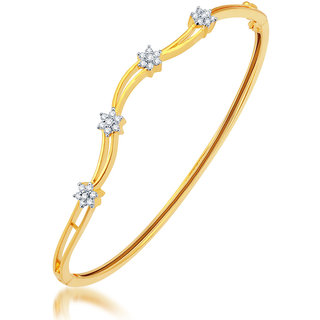 Sukkhi Delightful Gold and Rhodium Plated CZ Kada 12055KCZR1030Sukk0