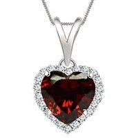 Silver Dew Valentine Jewelry Gift Sterling Silver Heart CZ Diamond Pendant
