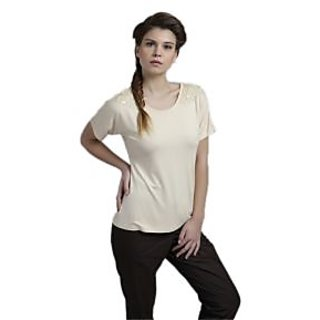 Fawn Shoulder Beading Tee 12302Fwn