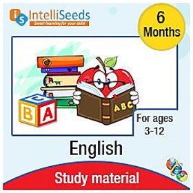 IntelliSeeds Learning English grammar and comprehension 6 months pack